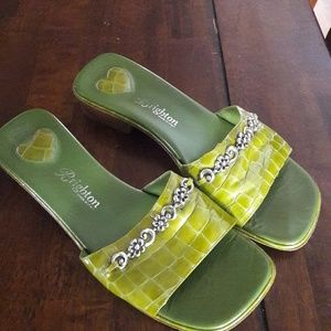 BRIGHTON GREEN SLIDE SHOES ITALY